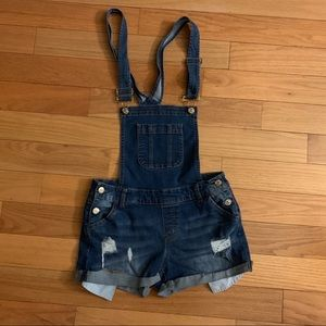 Girls overall shorts